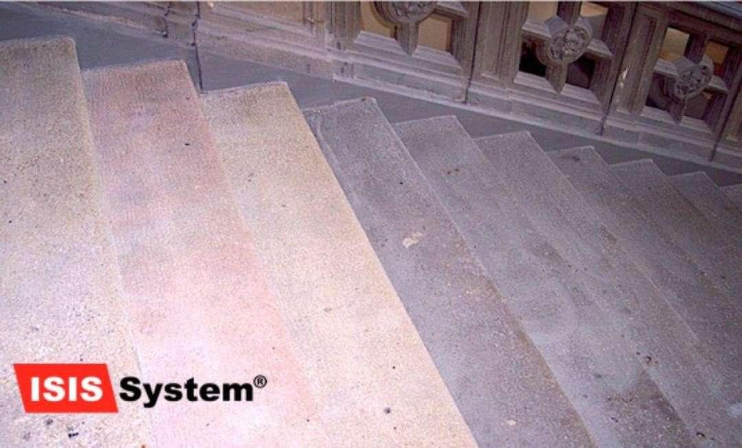 Renovace a čištění pískovcových schodů