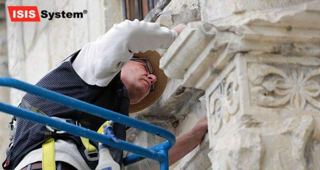Renovace a čištění žulových fasád
