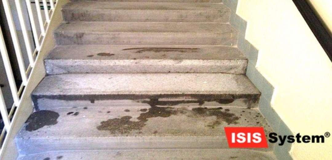 Renovace a čištění žulových schodů