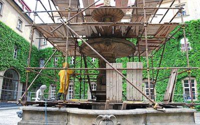 Repase kamene a repase památkově chráněné kašny